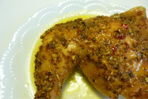 Pollo asado picante (ayam panggang)