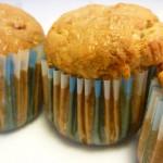 Muffins de gulas y gambas al ajillo