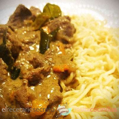 Ternera al curry verde