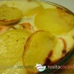 Pastel de patata y salmón fresco