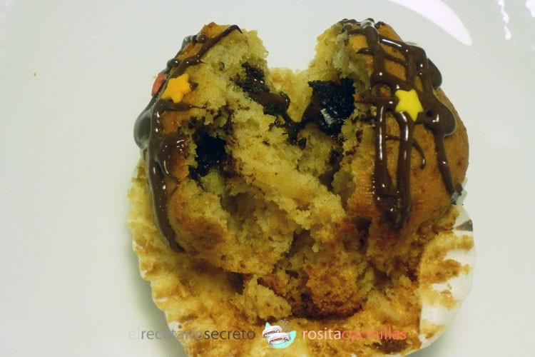 Muffins de plátano, coco y chocolate