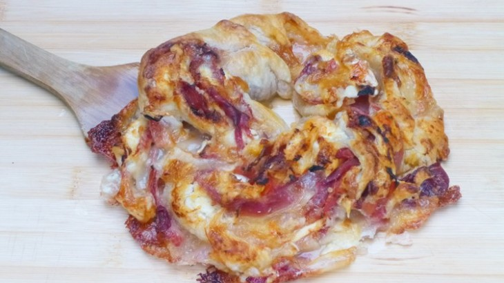 Rosca de jamón ibérico y queso de cabra
