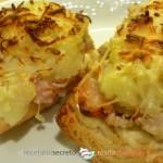 Tostas de pollo y patata