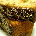 Plumcake arcoiris con chocolate