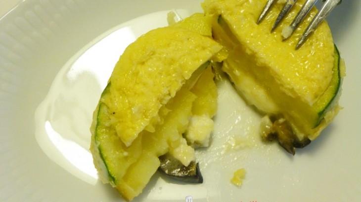 Pastelillos de hortalizas y queso de cabra